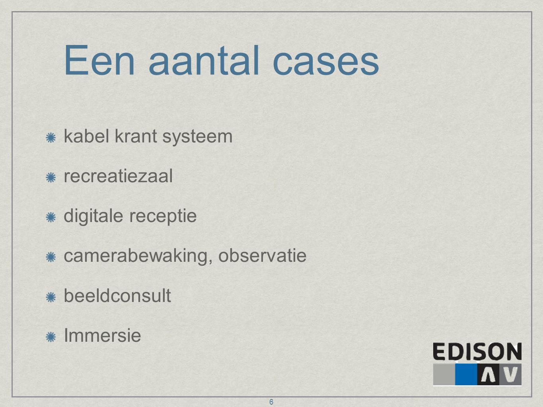 Een aantal cases kabel krant systeem recreatiezaal digitale receptie