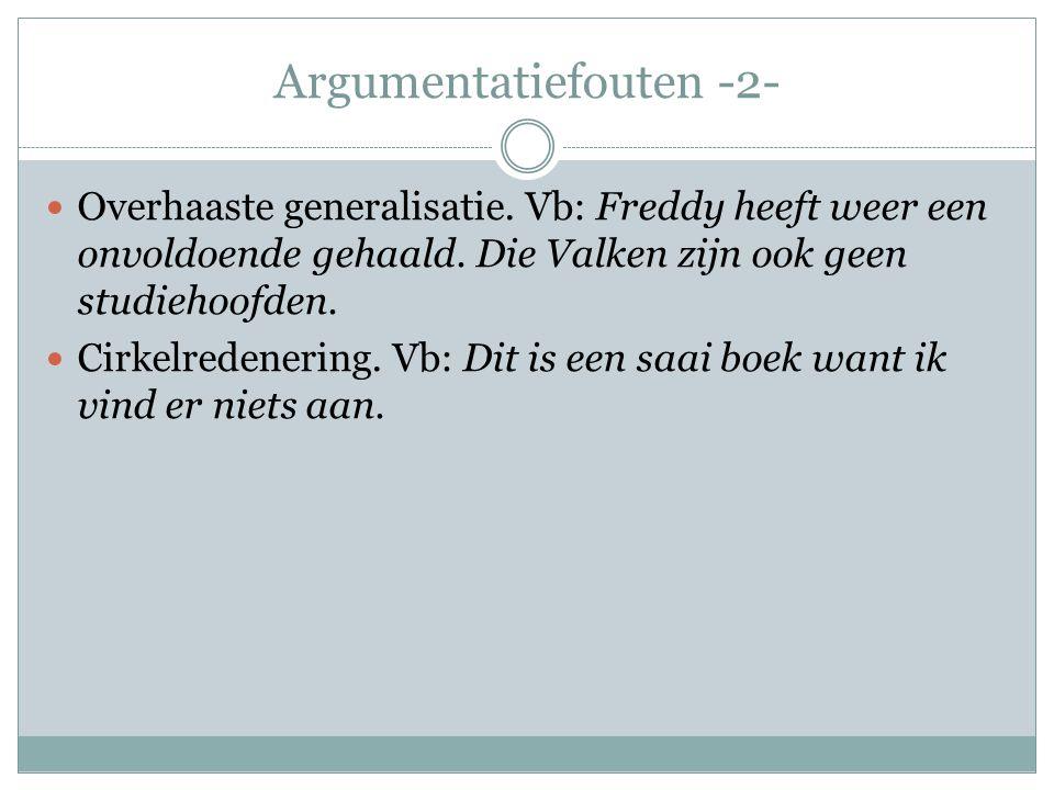 Argumentatiefouten -2-