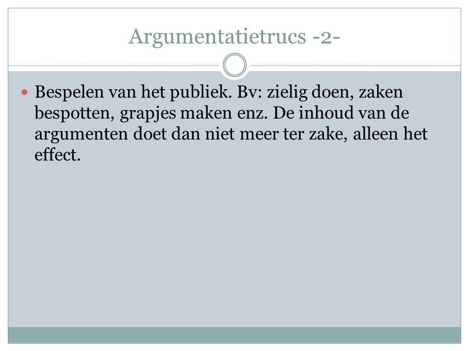 Argumentatietrucs -2-