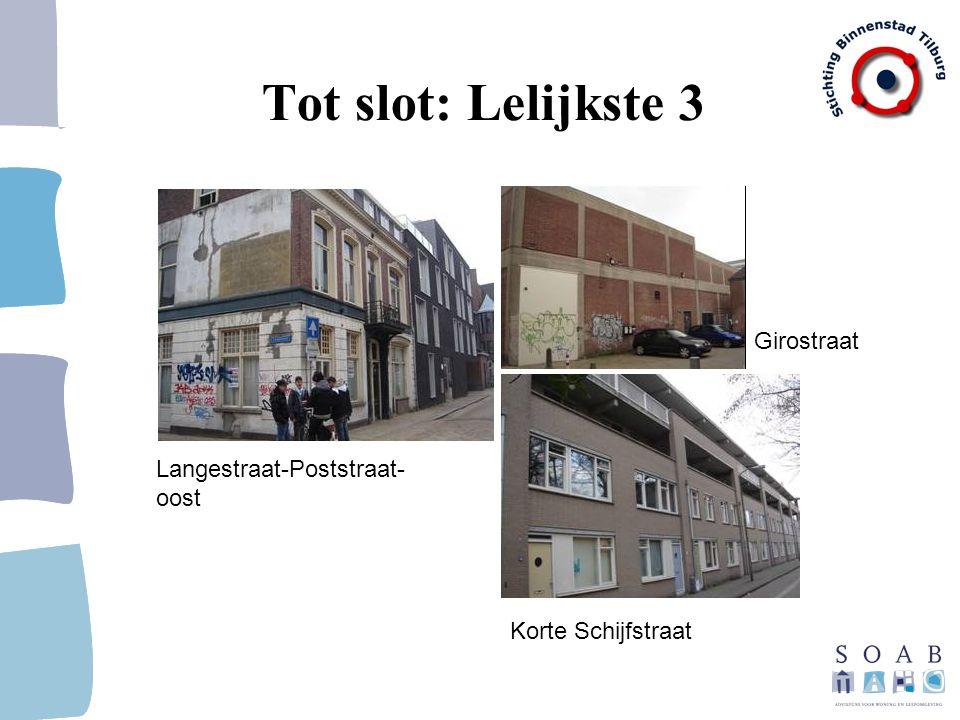 Tot slot: Lelijkste 3 Girostraat Langestraat-Poststraat-oost