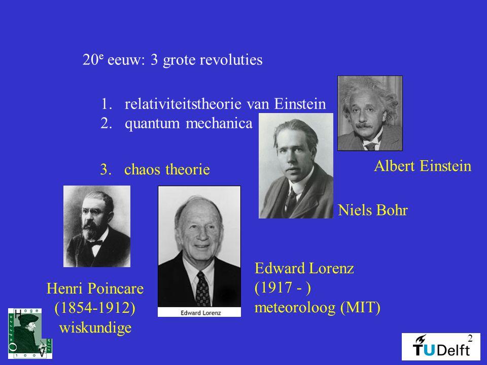 20e eeuw: 3 grote revoluties