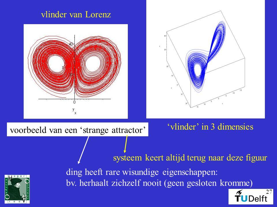 vlinder van Lorenz 'vlinder' in 3 dimensies. voorbeeld van een 'strange attractor' systeem keert altijd terug naar deze figuur.