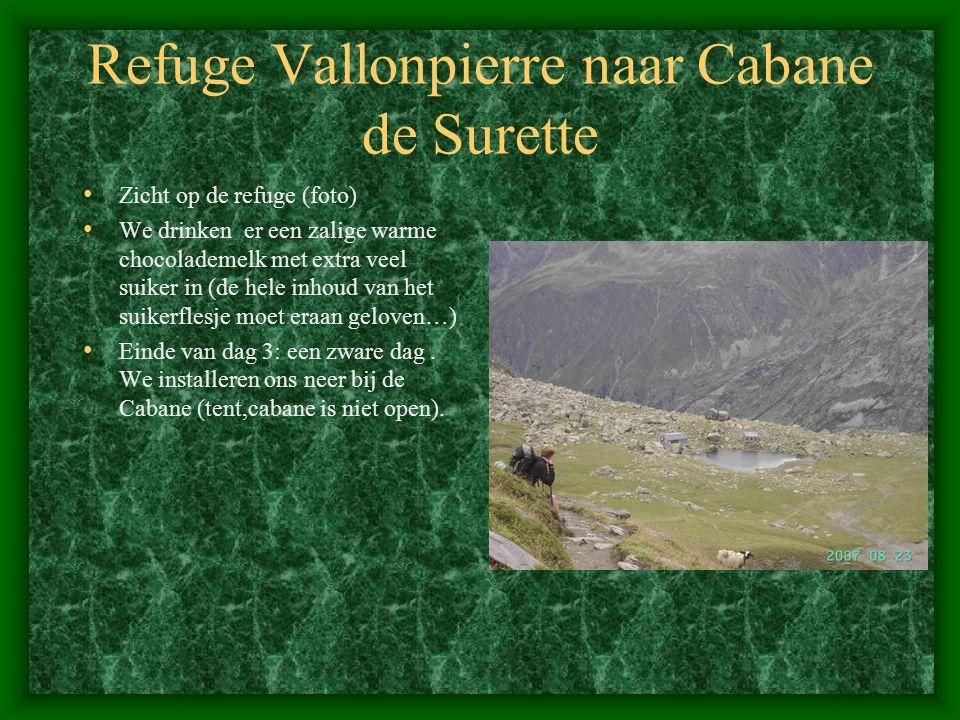 Refuge Vallonpierre naar Cabane de Surette