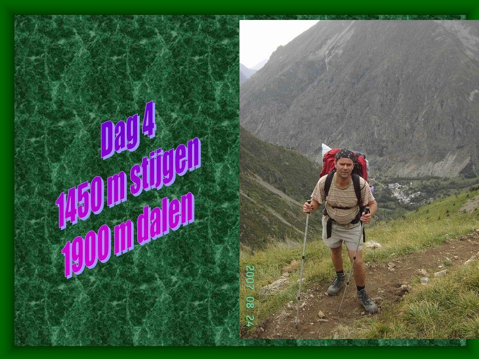 Dag 4 1450 m stijgen 1900 m dalen
