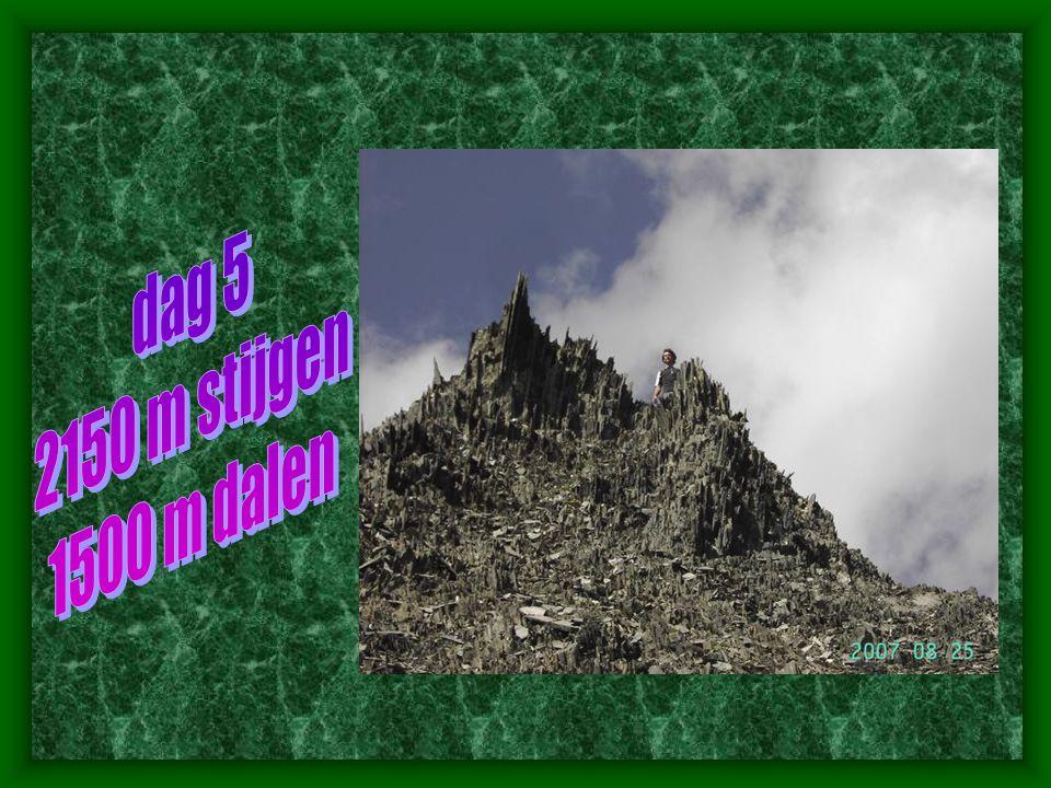 dag 5 2150 m stijgen 1500 m dalen