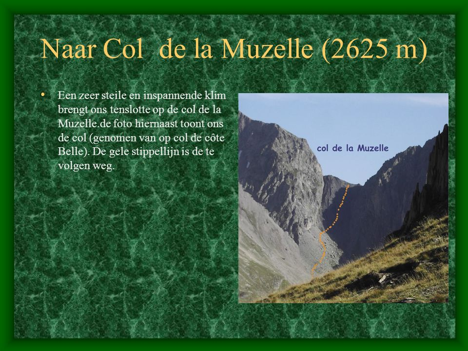 Naar Col de la Muzelle (2625 m)