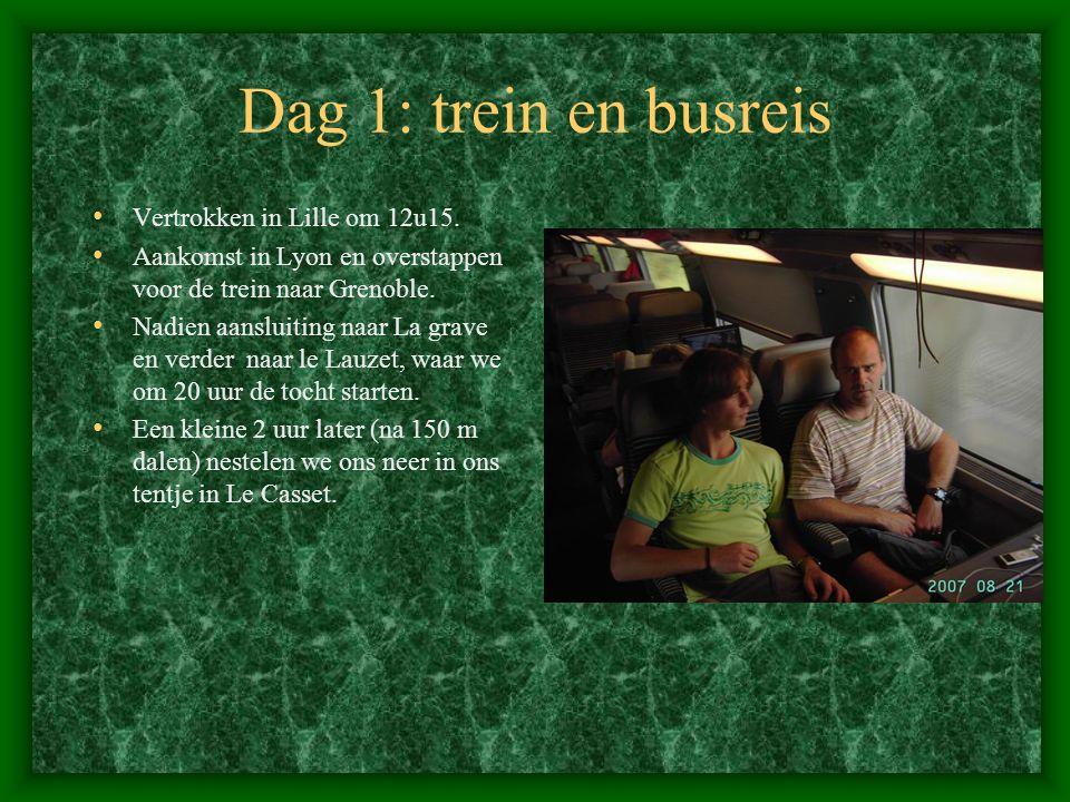Dag 1: trein en busreis Vertrokken in Lille om 12u15.