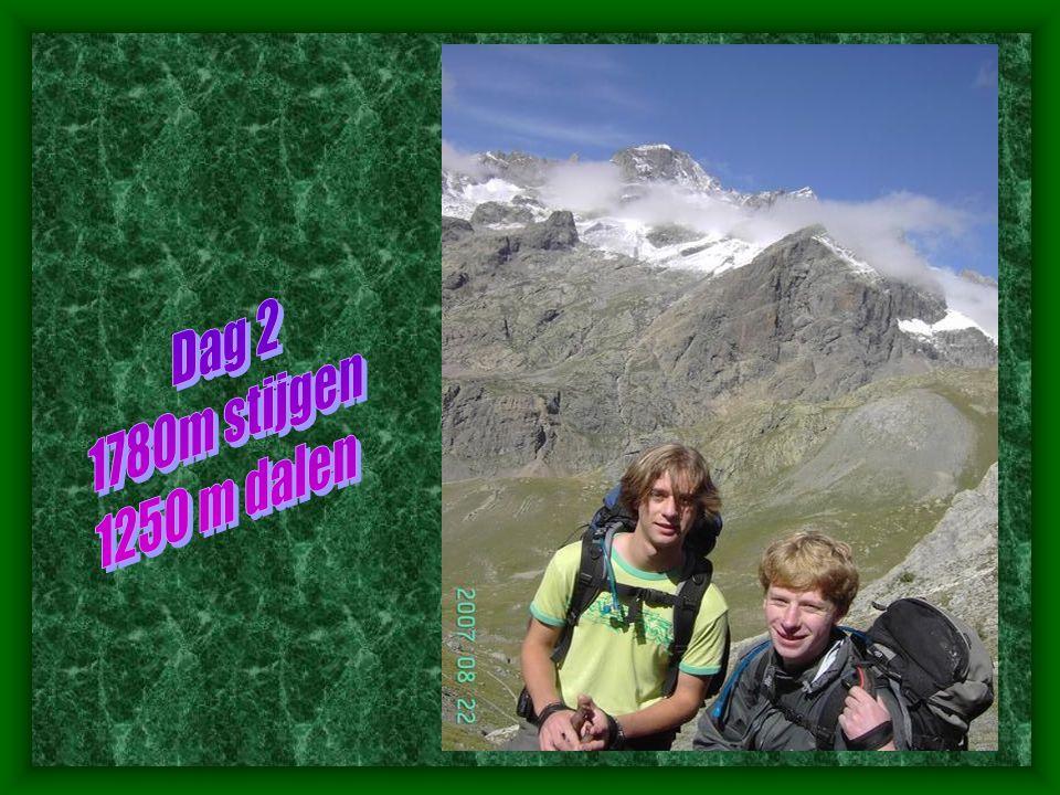 Dag 2 1780m stijgen 1250 m dalen