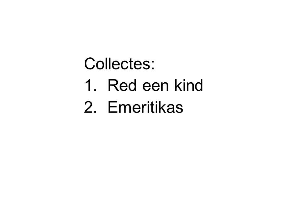 Collectes: Red een kind Emeritikas