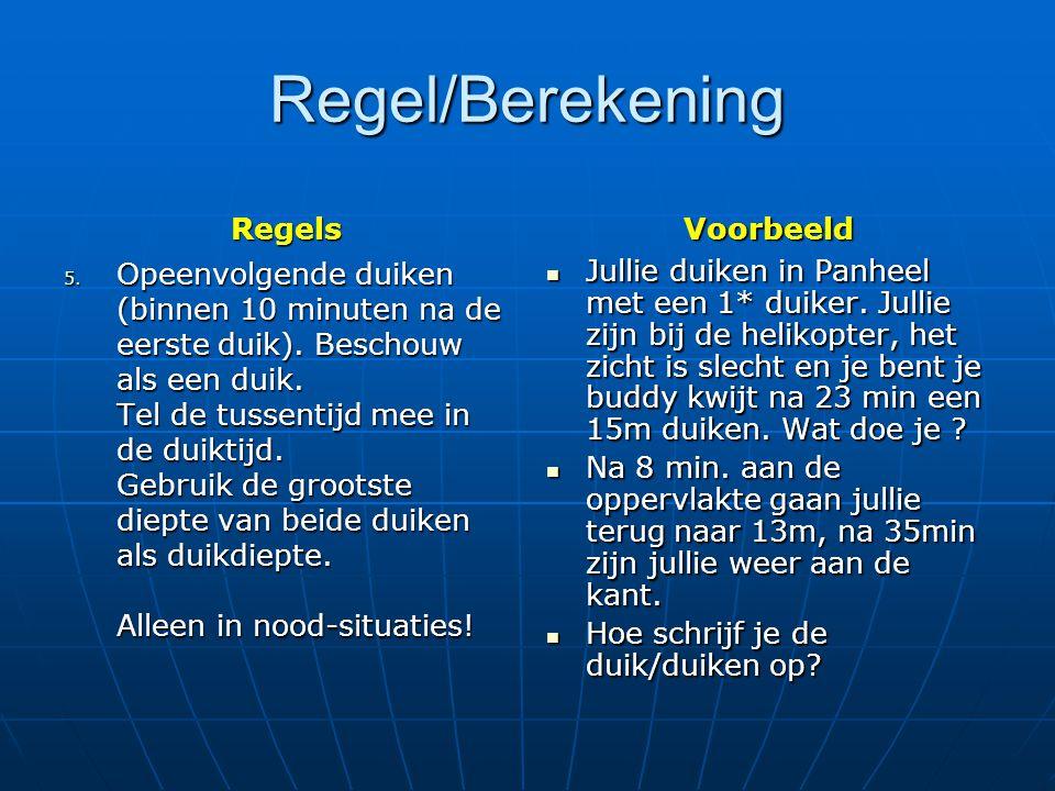 Regel/Berekening Regels Voorbeeld