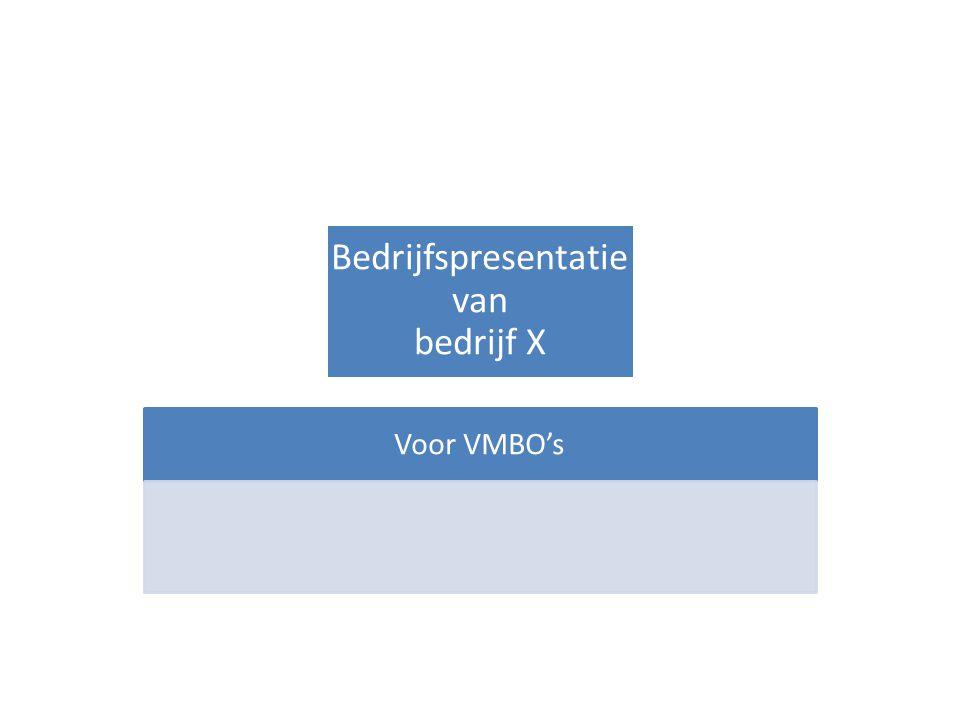 Bedrijfspresentatie van bedrijf X