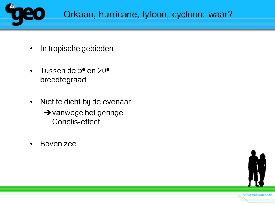 Orkaan, hurricane, tyfoon, cycloon: waar