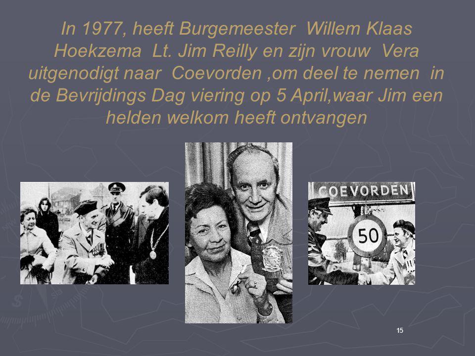 In 1977, heeft Burgemeester Willem Klaas Hoekzema Lt