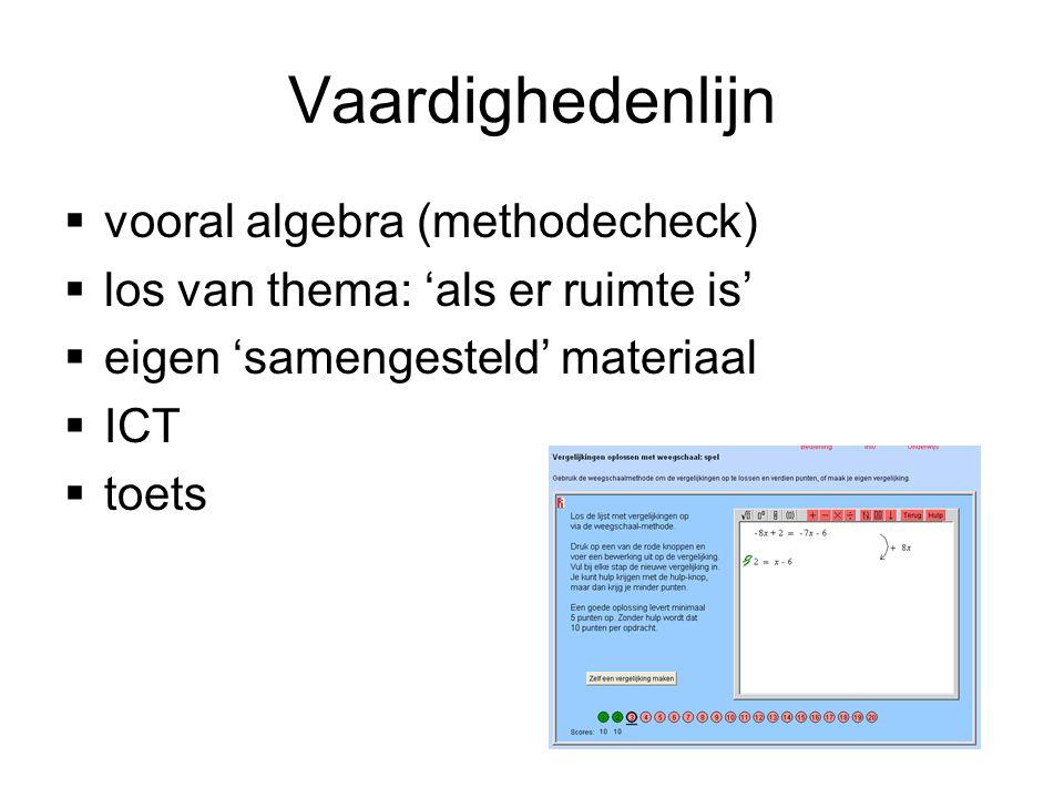 Vaardighedenlijn vooral algebra (methodecheck)