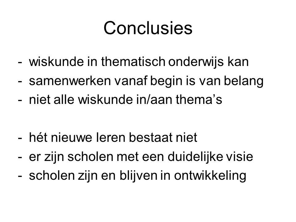 Conclusies wiskunde in thematisch onderwijs kan