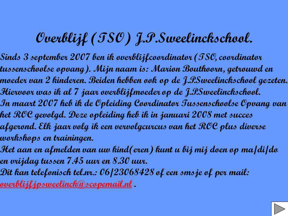 Overblijf (TSO) J.P.Sweelinckschool.