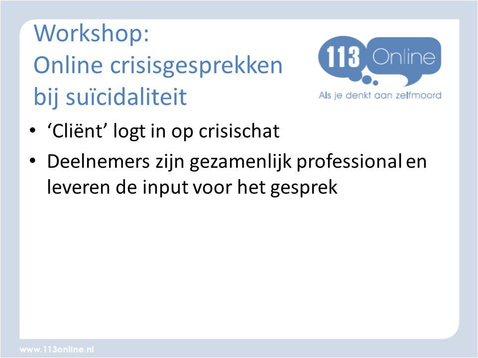 Workshop: Online crisisgesprekken bij suïcidaliteit