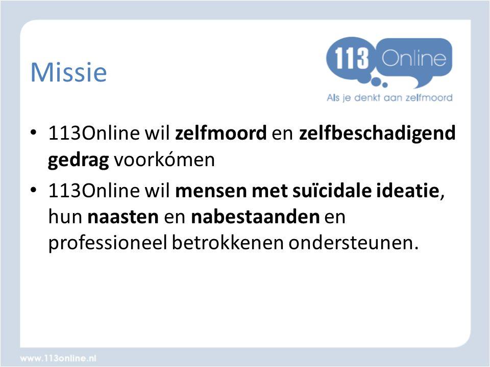 Missie 113Online wil zelfmoord en zelfbeschadigend gedrag voorkómen