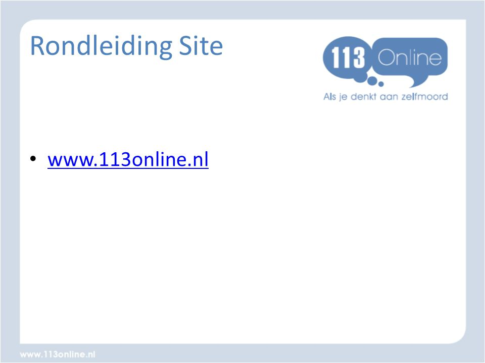 Rondleiding Site