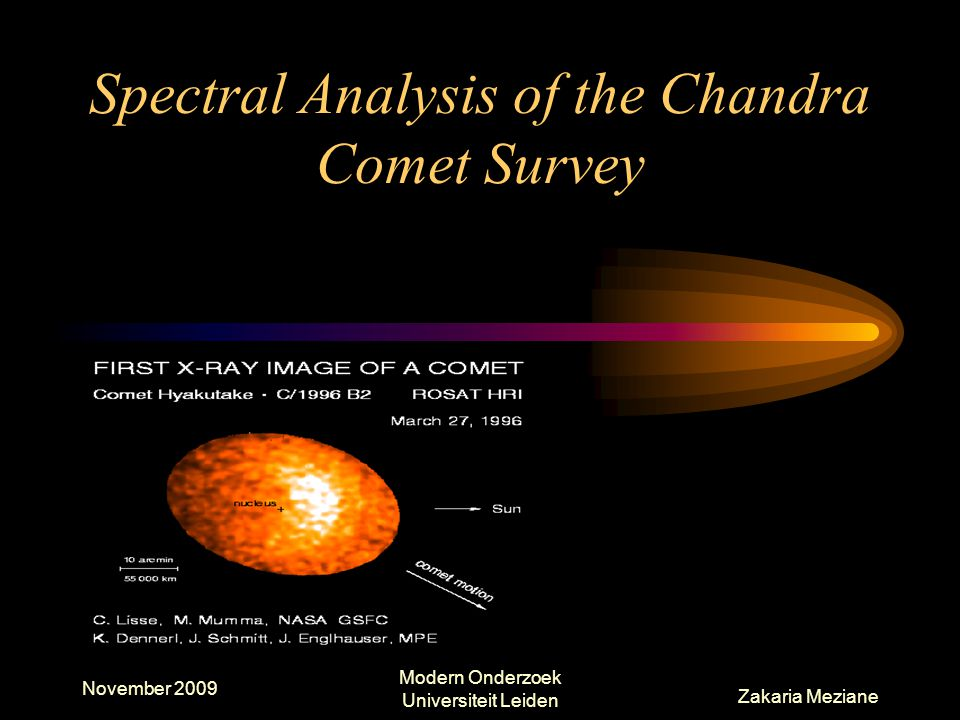 Spectral Analysis of the Chandra Comet Survey