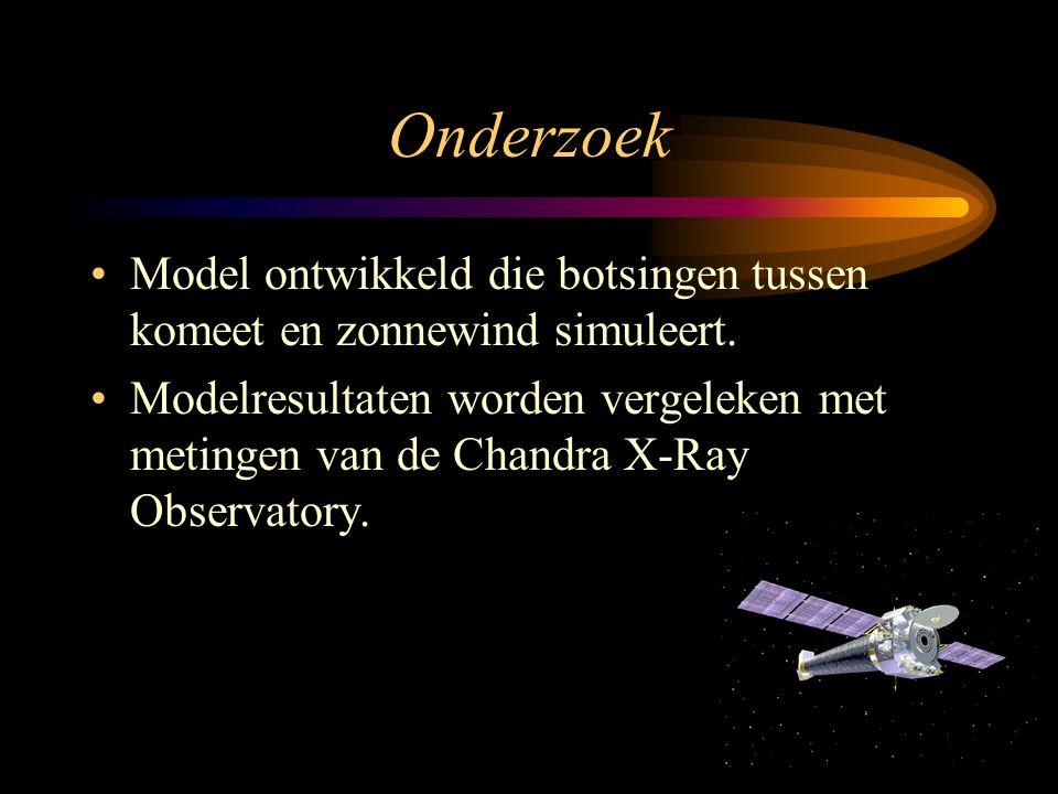 Onderzoek Model ontwikkeld die botsingen tussen komeet en zonnewind simuleert.
