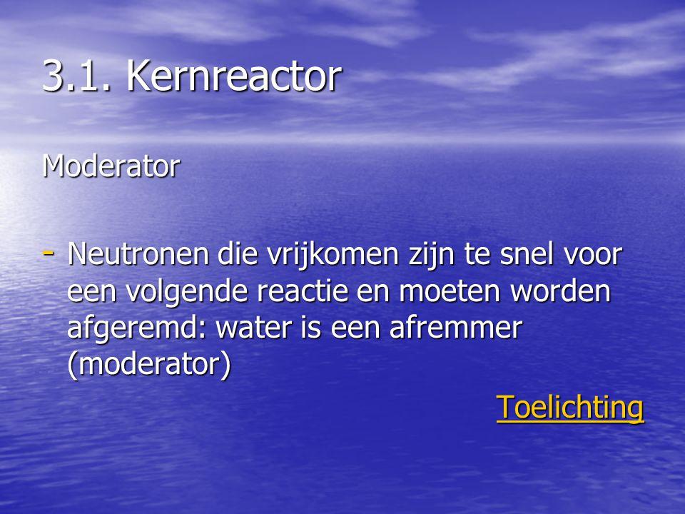 3.1. Kernreactor Moderator