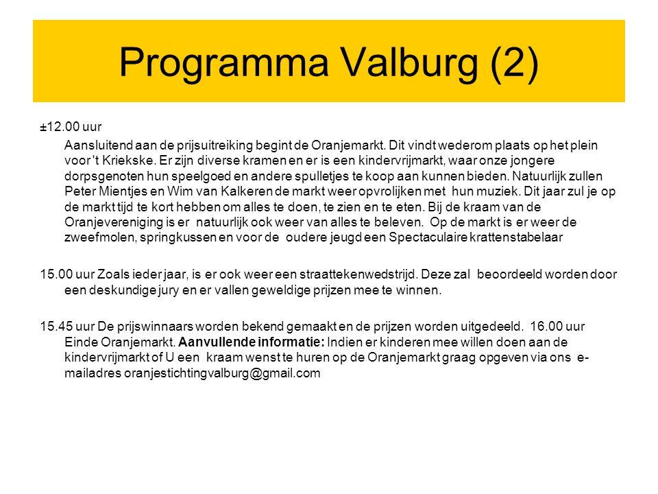 Programma Valburg (2) ±12.00 uur