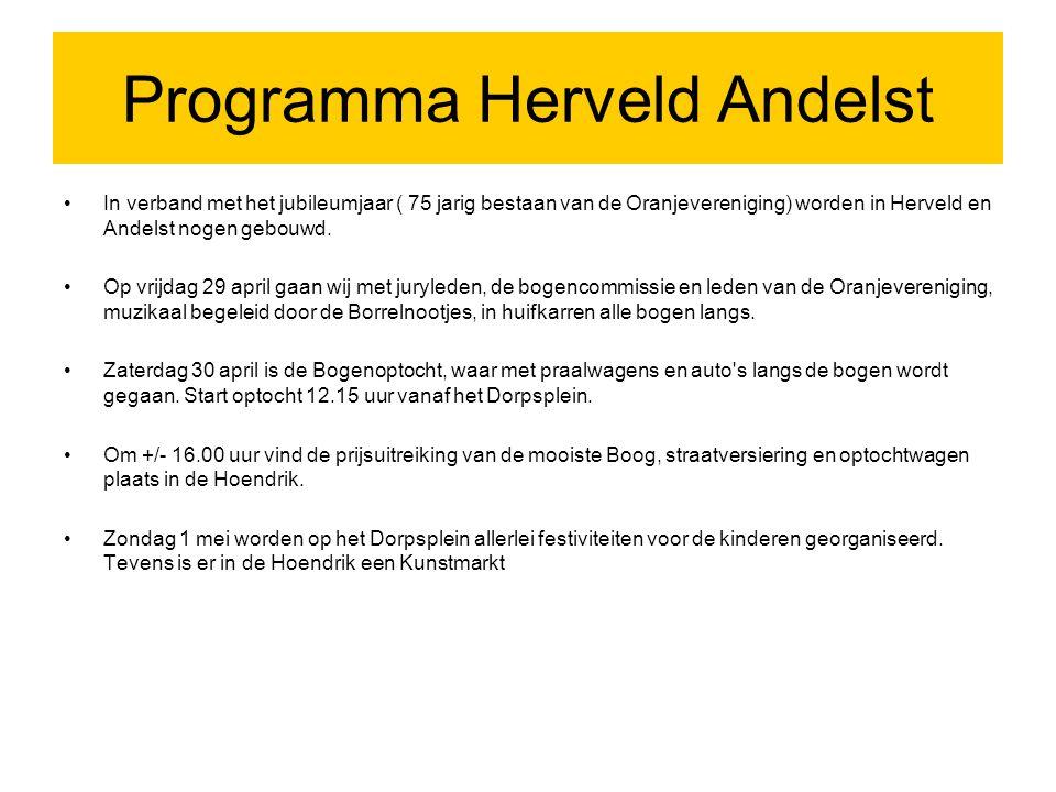 Programma Herveld Andelst