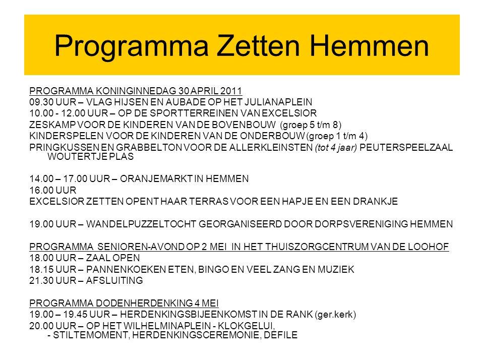 Programma Zetten Hemmen