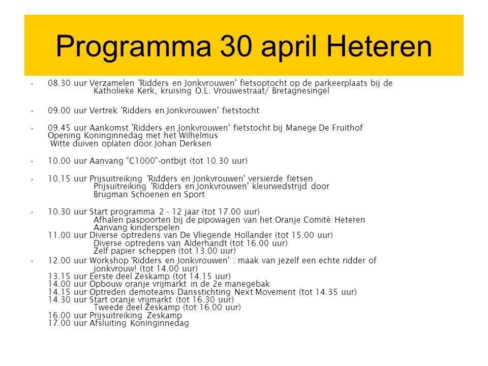 Programma 30 april Heteren