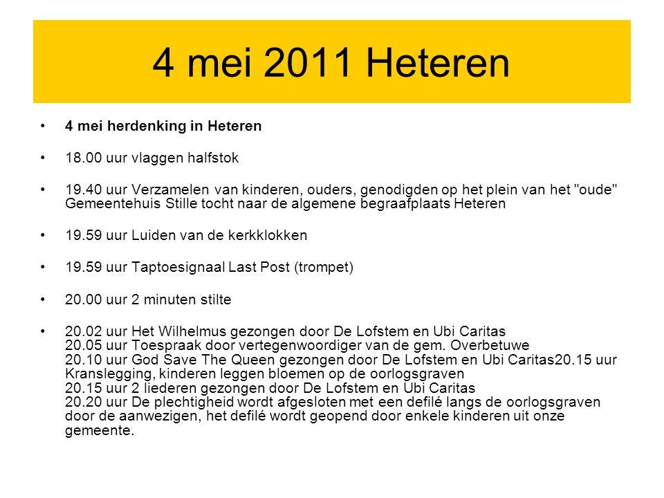 4 mei 2011 Heteren 4 mei herdenking in Heteren