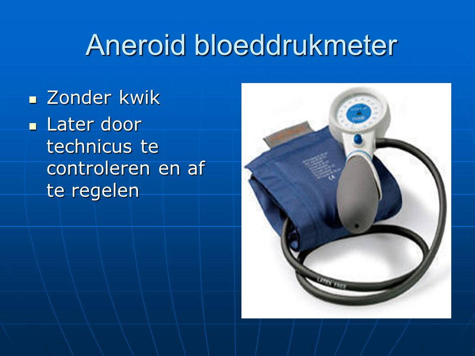 Aneroid bloeddrukmeter