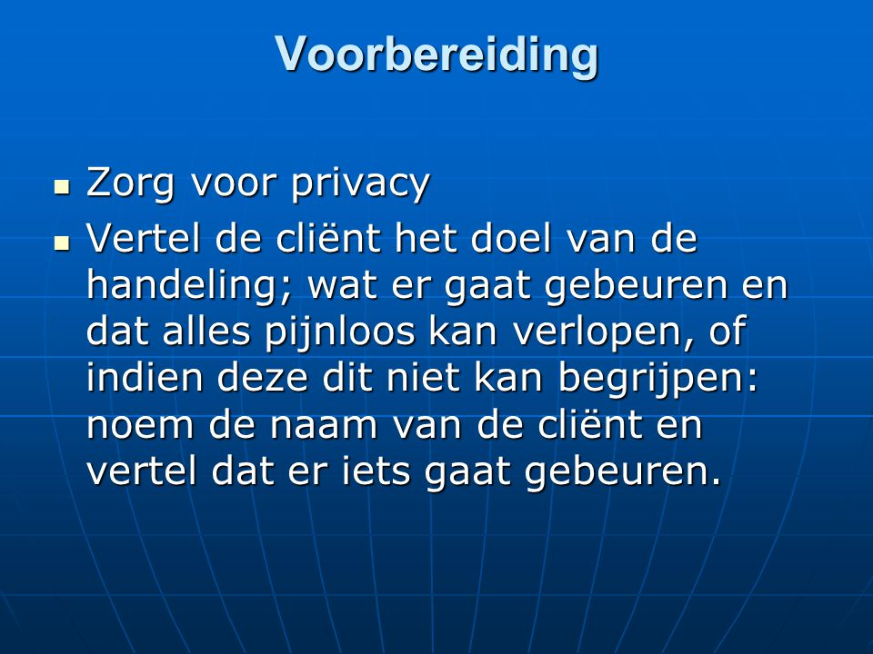Voorbereiding Zorg voor privacy