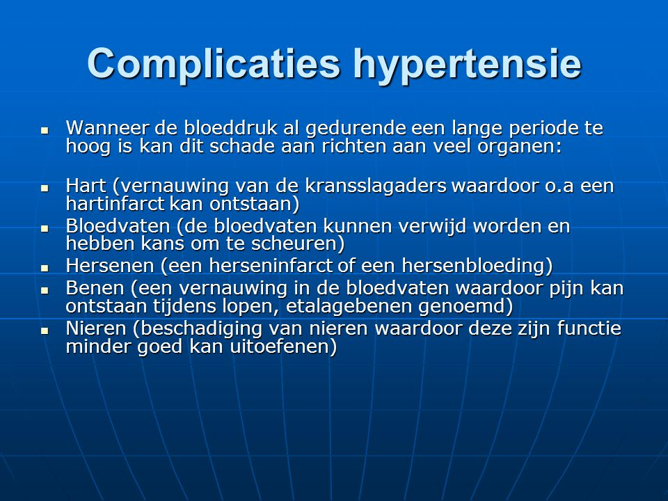 Complicaties hypertensie