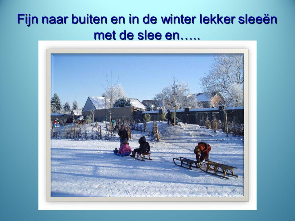 Fijn naar buiten en in de winter lekker sleeën met de slee en…..