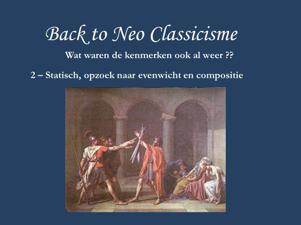 Back to Neo Classicisme