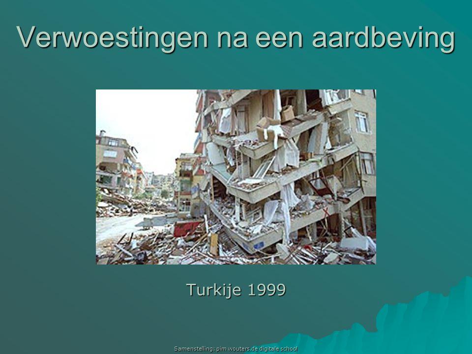 Verwoestingen na een aardbeving