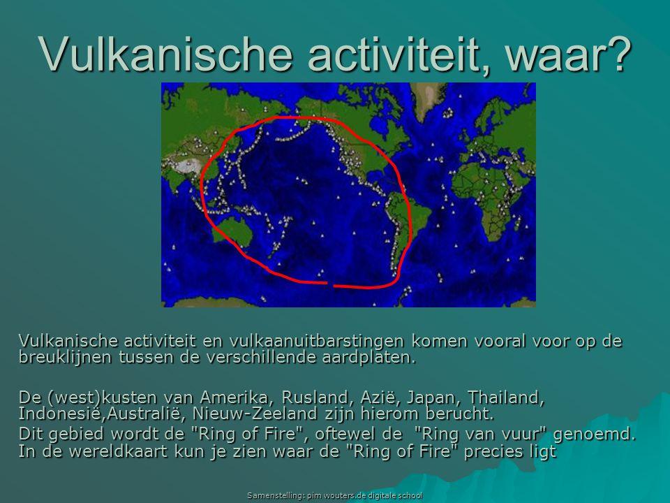 Vulkanische activiteit, waar