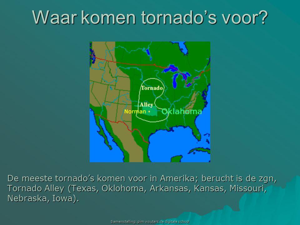 Waar komen tornado's voor