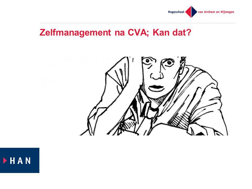 Zelfmanagement na CVA; Kan dat
