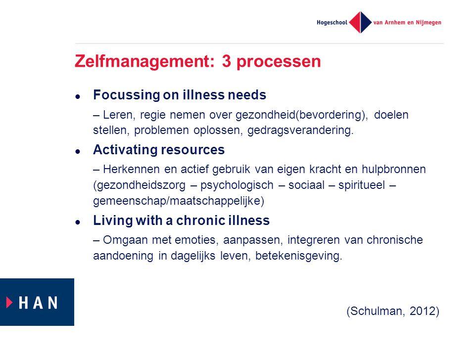 Zelfmanagement: 3 processen