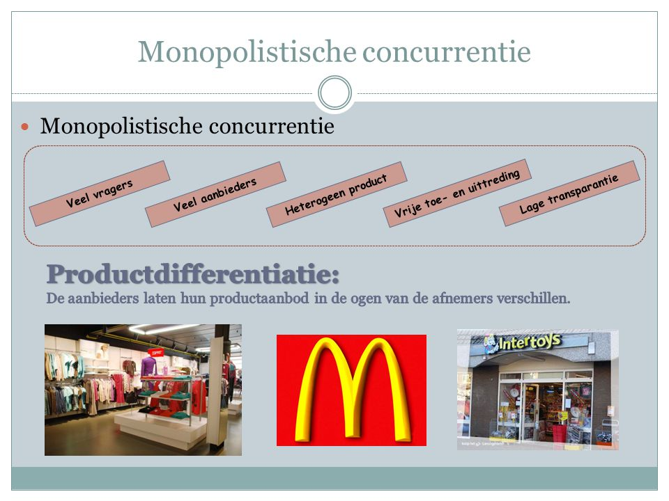 Monopolistische concurrentie