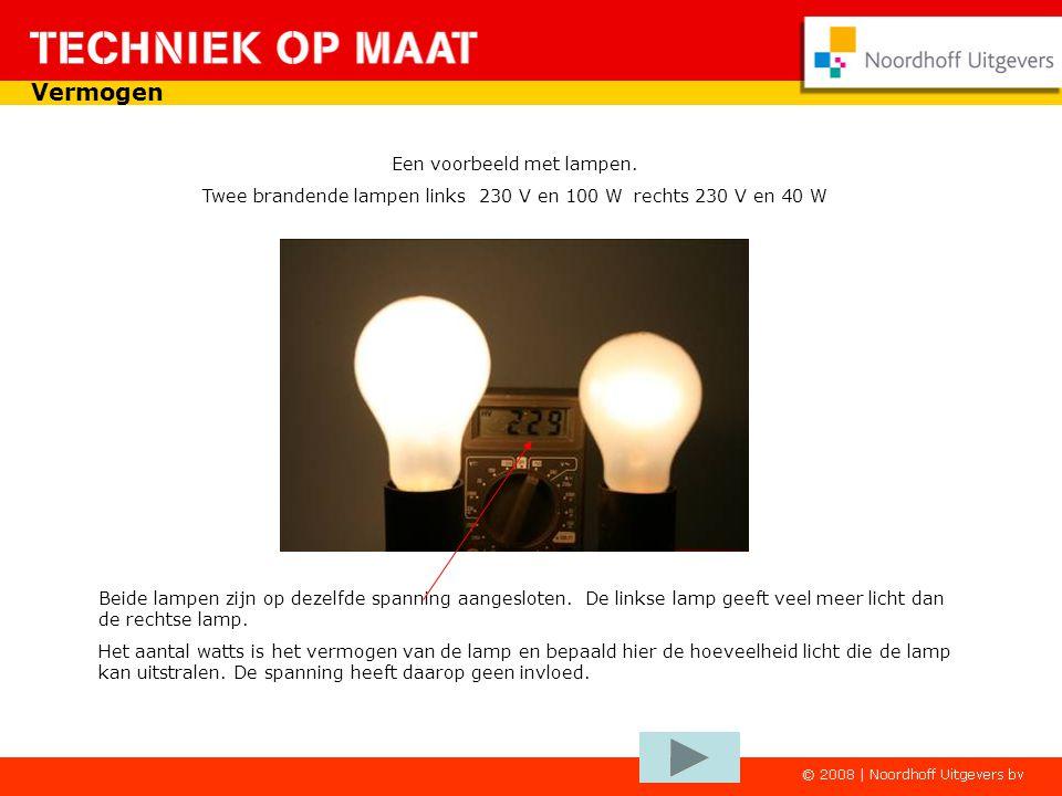 Vermogen Een voorbeeld met lampen.