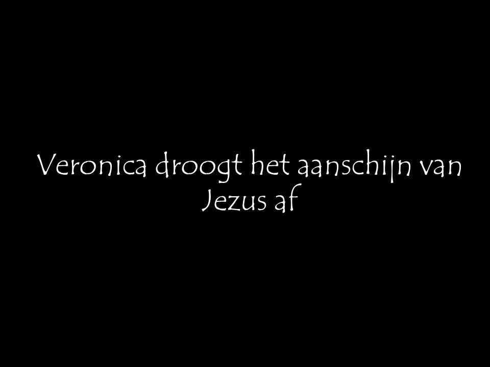 Veronica droogt het aanschijn van Jezus af