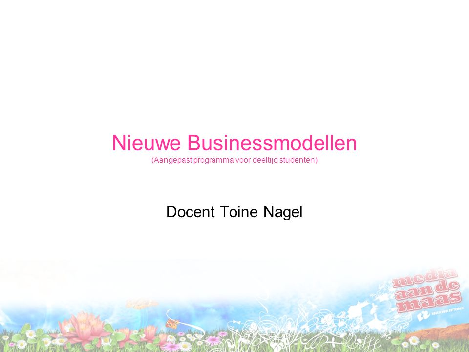 Nieuwe Businessmodellen (Aangepast programma voor deeltijd studenten)