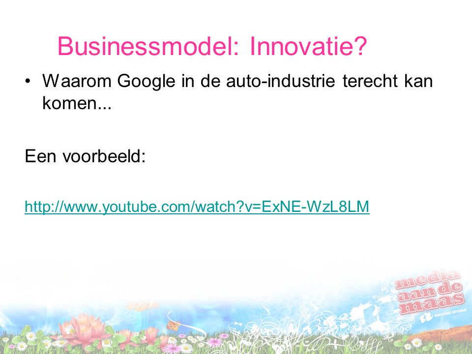 Businessmodel: Innovatie