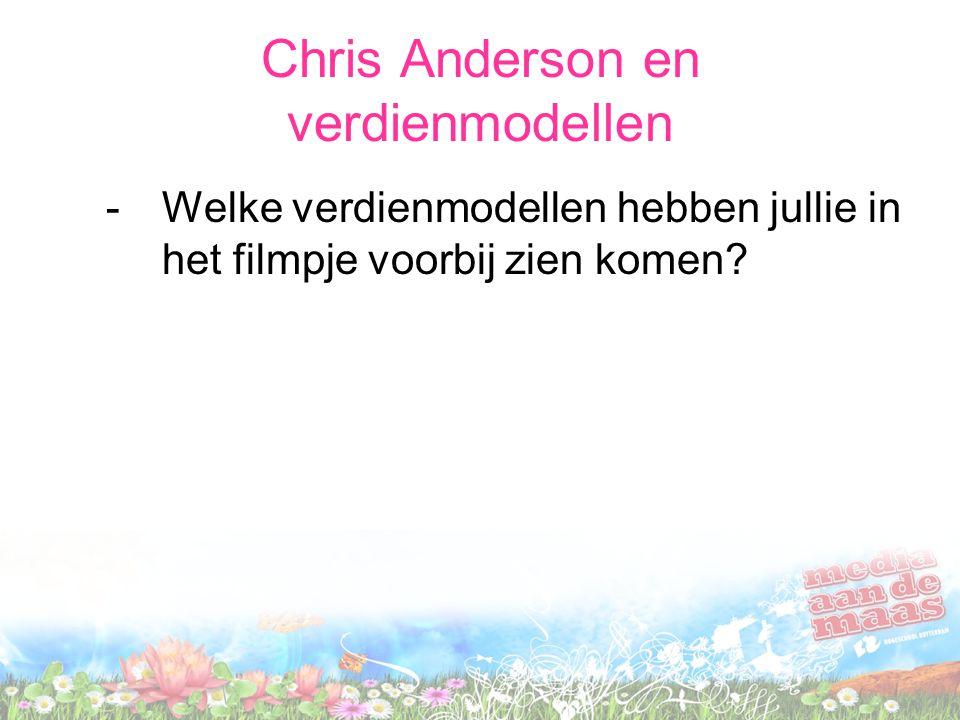 Chris Anderson en verdienmodellen