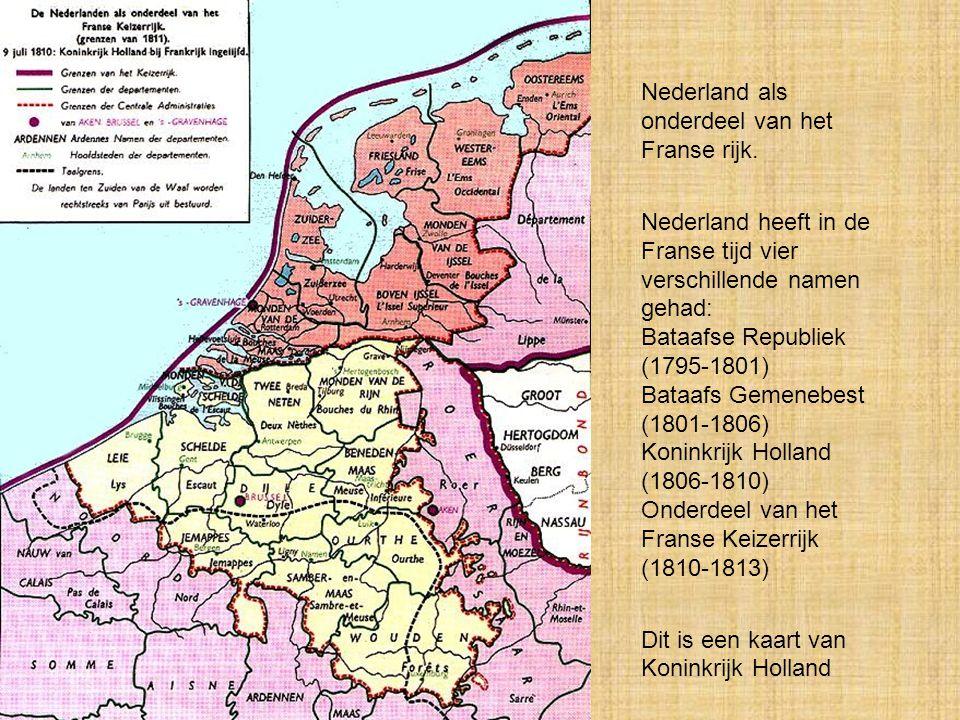 Nederland als onderdeel van het Franse rijk.