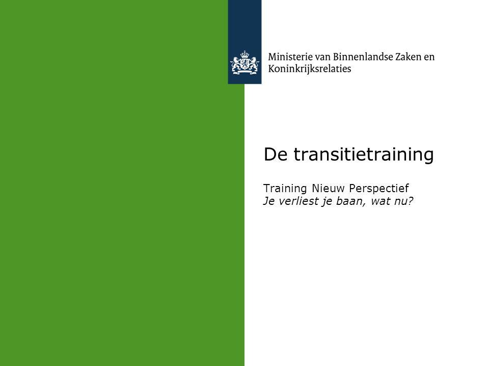 De transitietraining Training Nieuw Perspectief