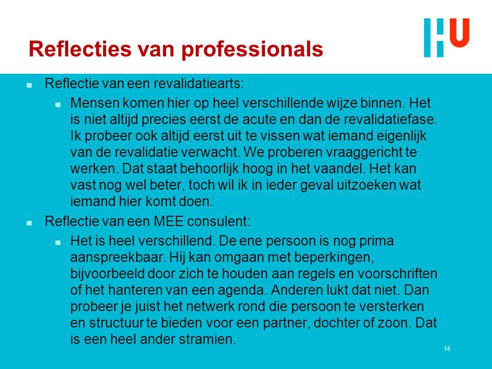 Reflecties van professionals